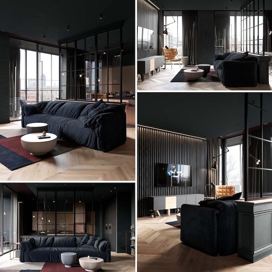 модный дизайн гостиной фото 24