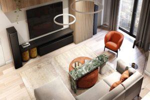 модный дизайн гостиной фото 30
