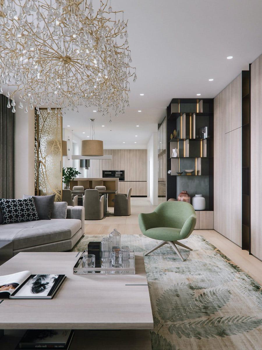 модный дизайн гостиной фото 26