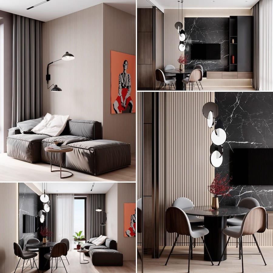 модный дизайн гостиной фото 4