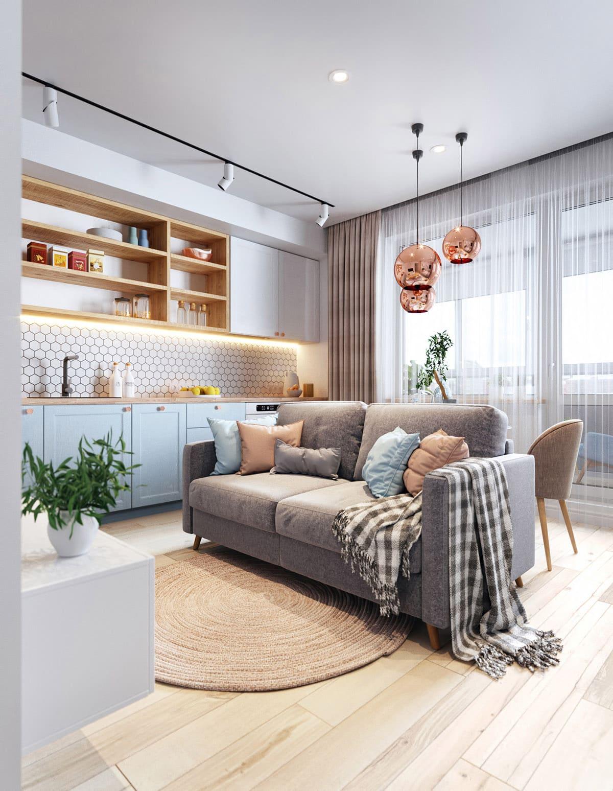 дизайн маленькой квартиры фото 30
