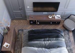 дизайн квартиры в сером цвете фото 1