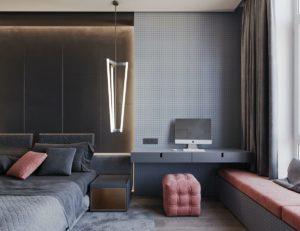 дизайн квартиры в сером цвете фото 3