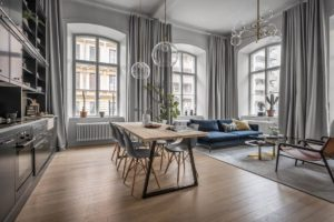 дизайн квартиры в сером цвете фото 4