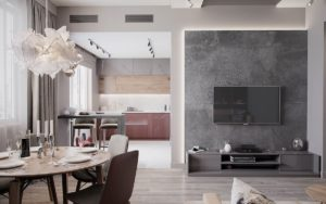 дизайн квартиры в сером цвете фото 9
