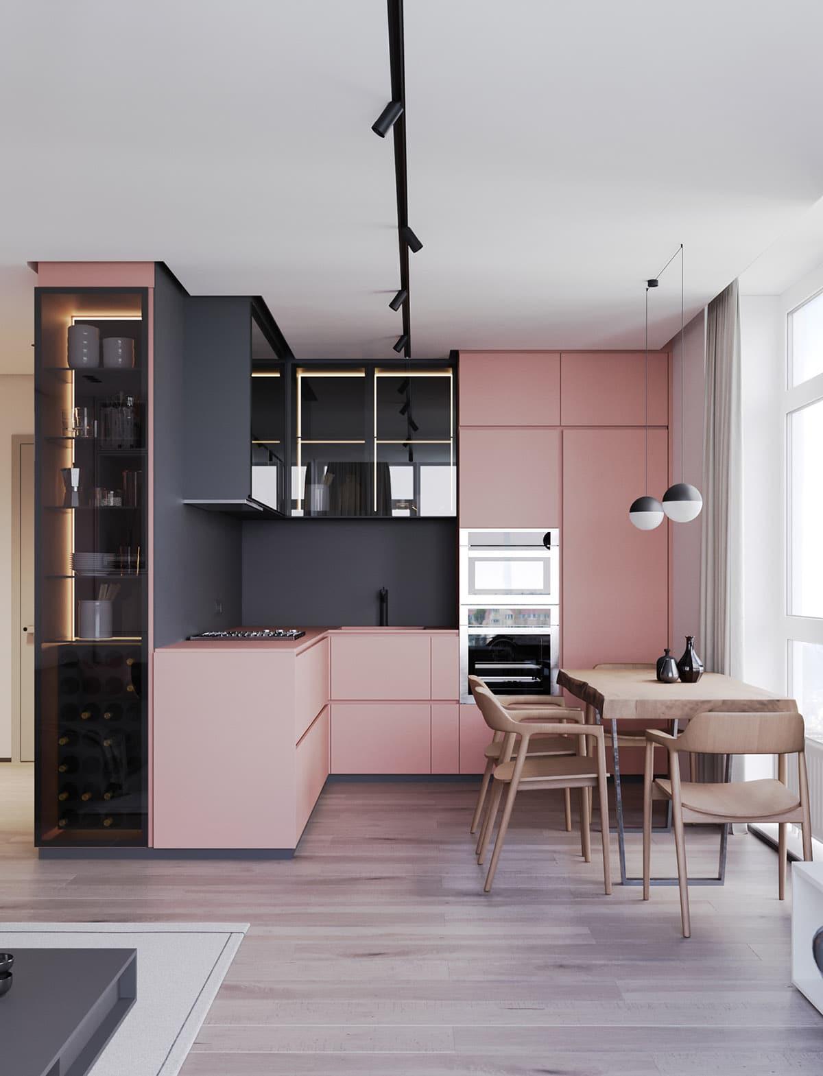 дизайн в серо-розовых тонах фото 3