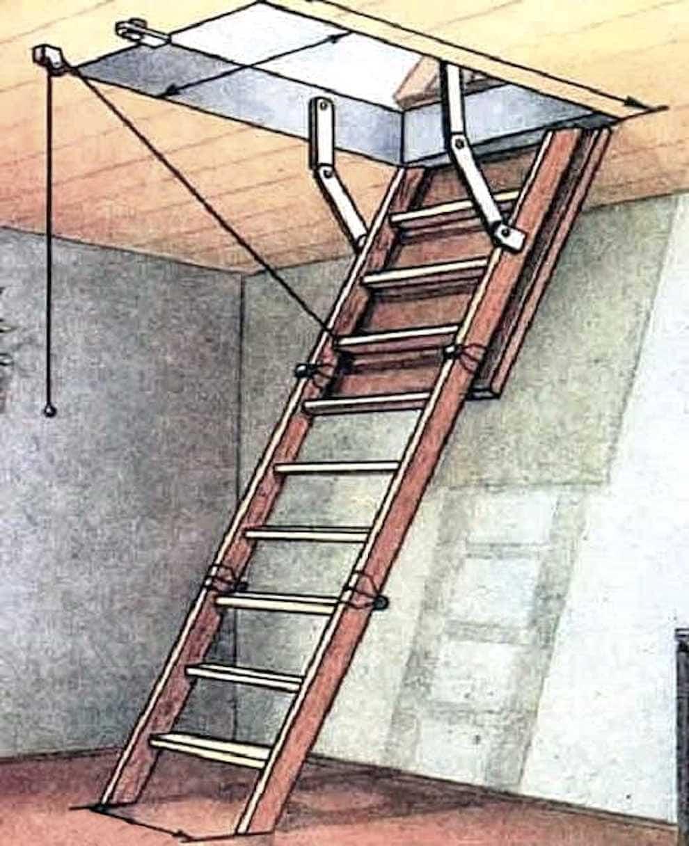 Выдвижная лестница считается безопасной и надёжной конструкцией
