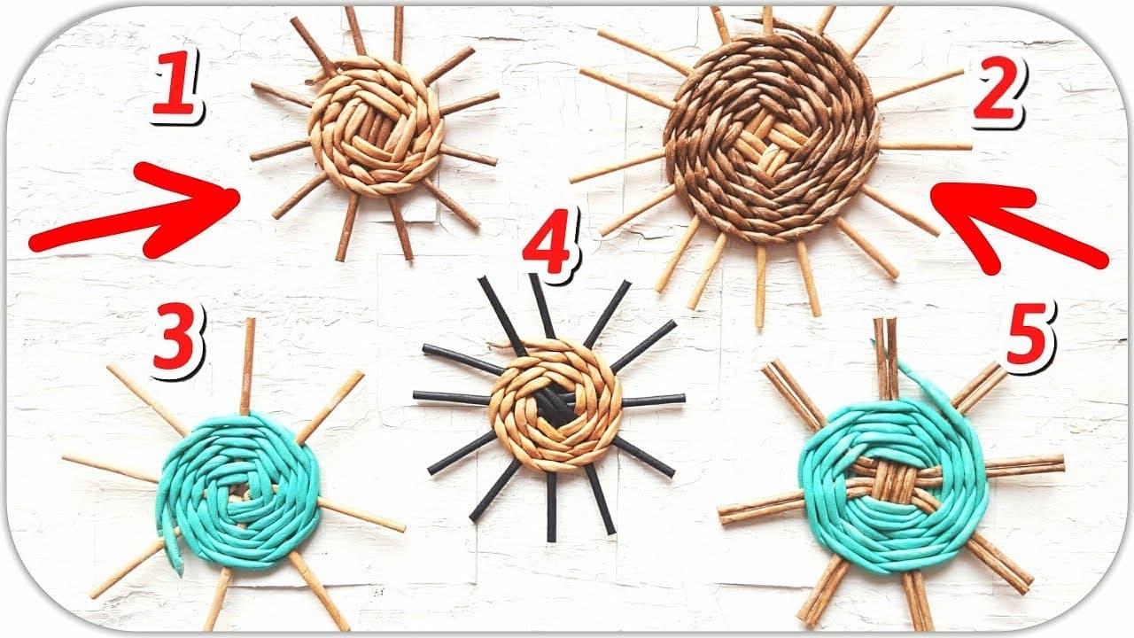 Плетение дна корзинки (схема)