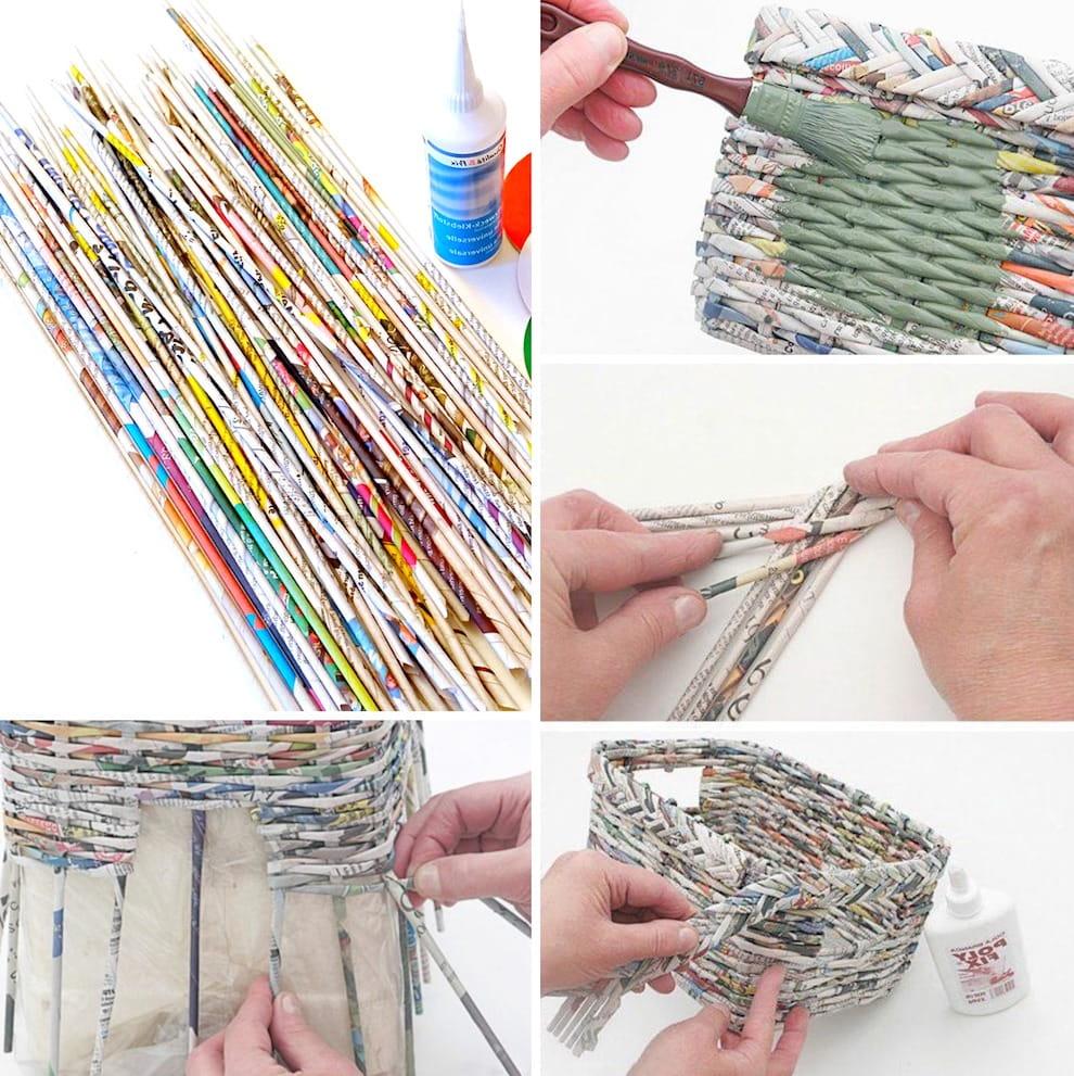 При желании, украшение из бумажных трубочек можно выкрасить в любой понравившийся вам цвет