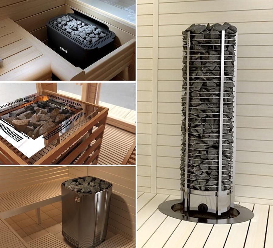 Большинство банных электропечей оснащаются каменкой открытого типа