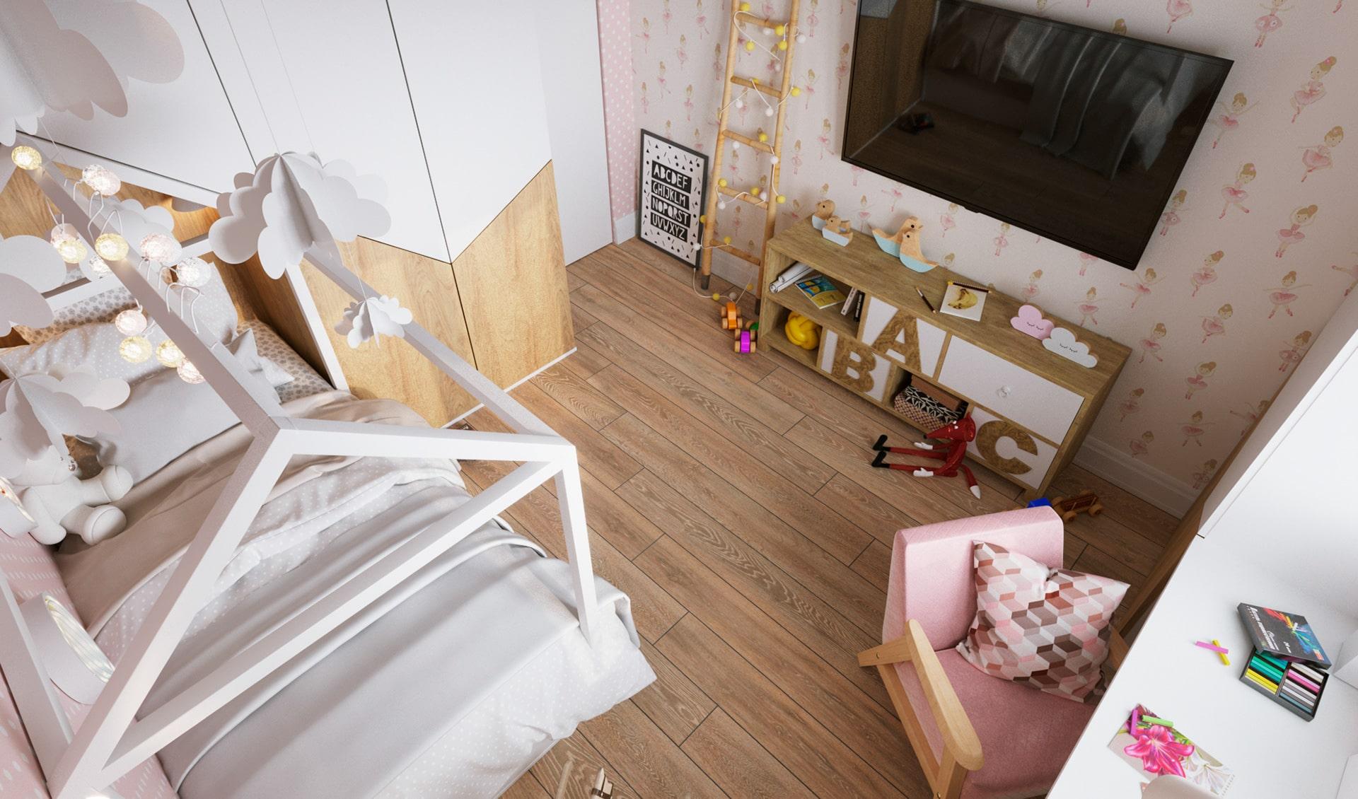 детская комната для девочки фото 14