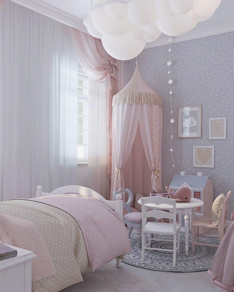 детская комната для девочки фото 27
