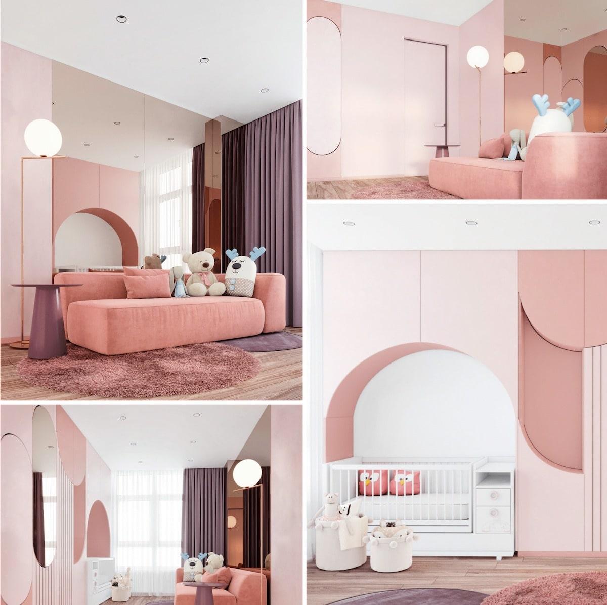 детская комната для девочки фото 16