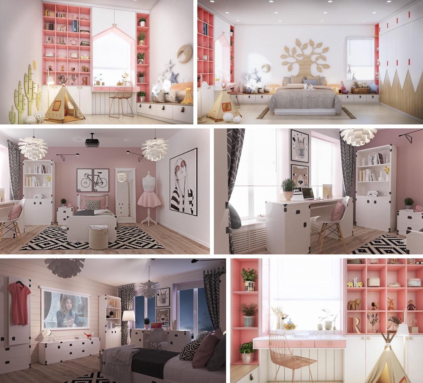детская комната для девочки фото 20