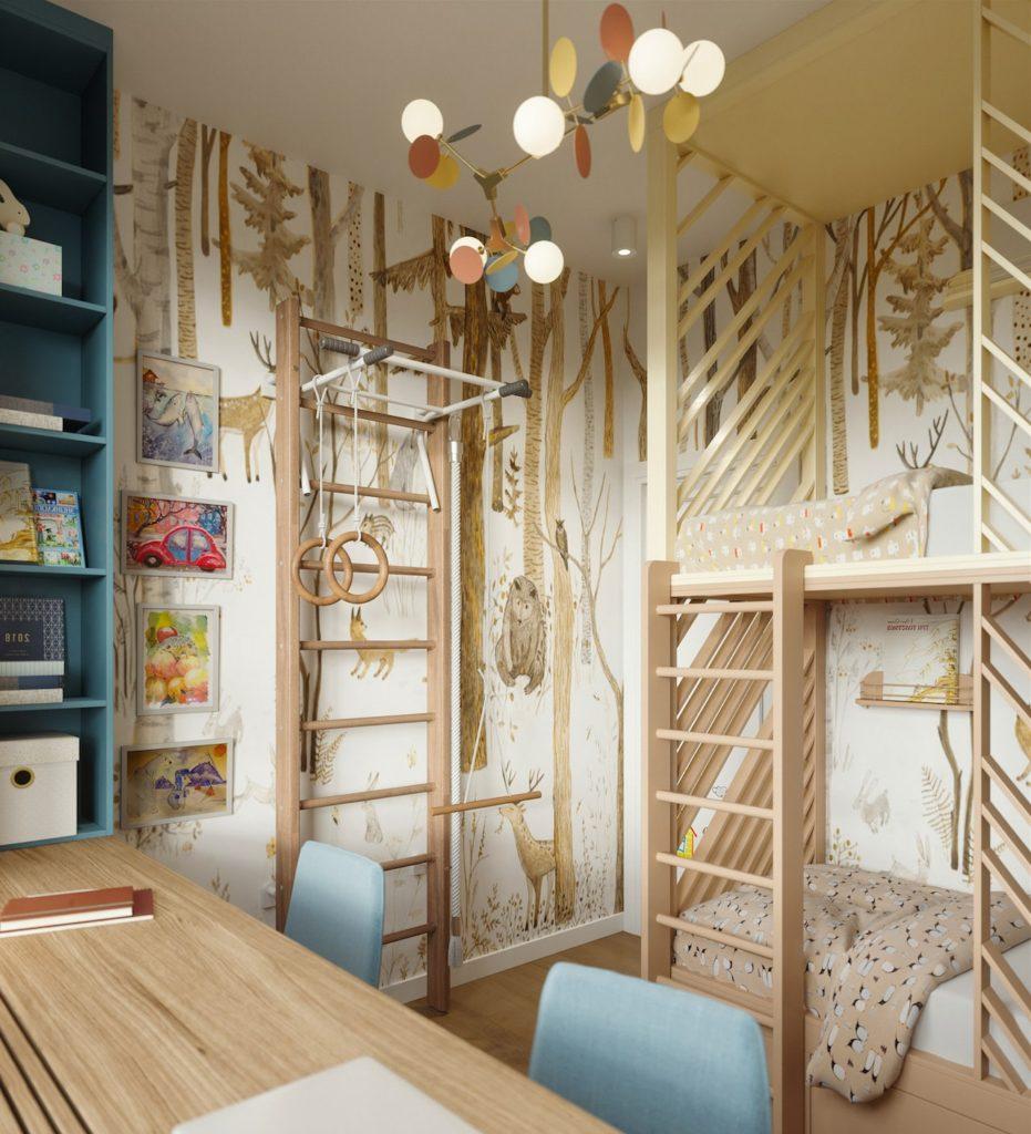 детская комната для мальчика фото 75