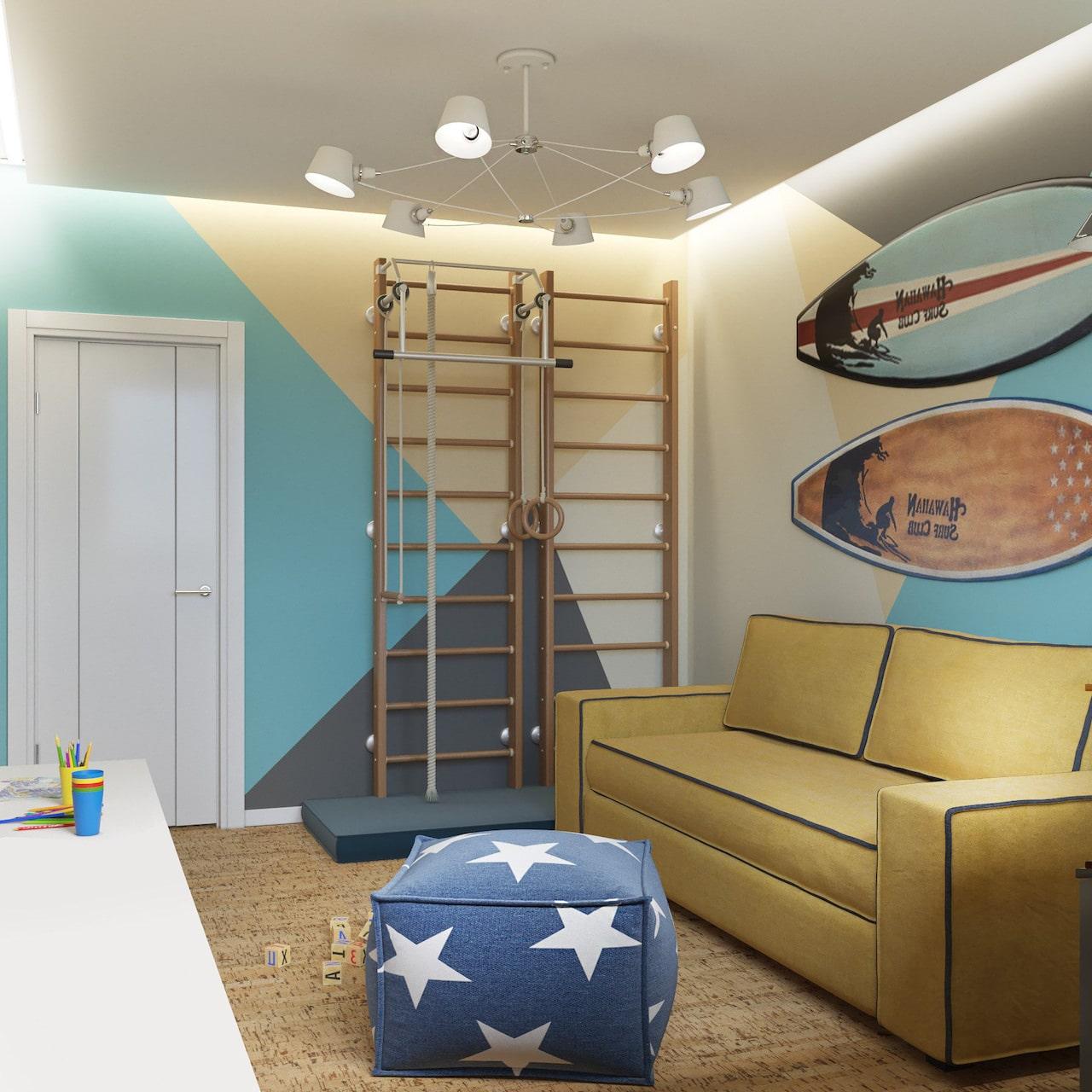 детская комната для мальчика фото 64