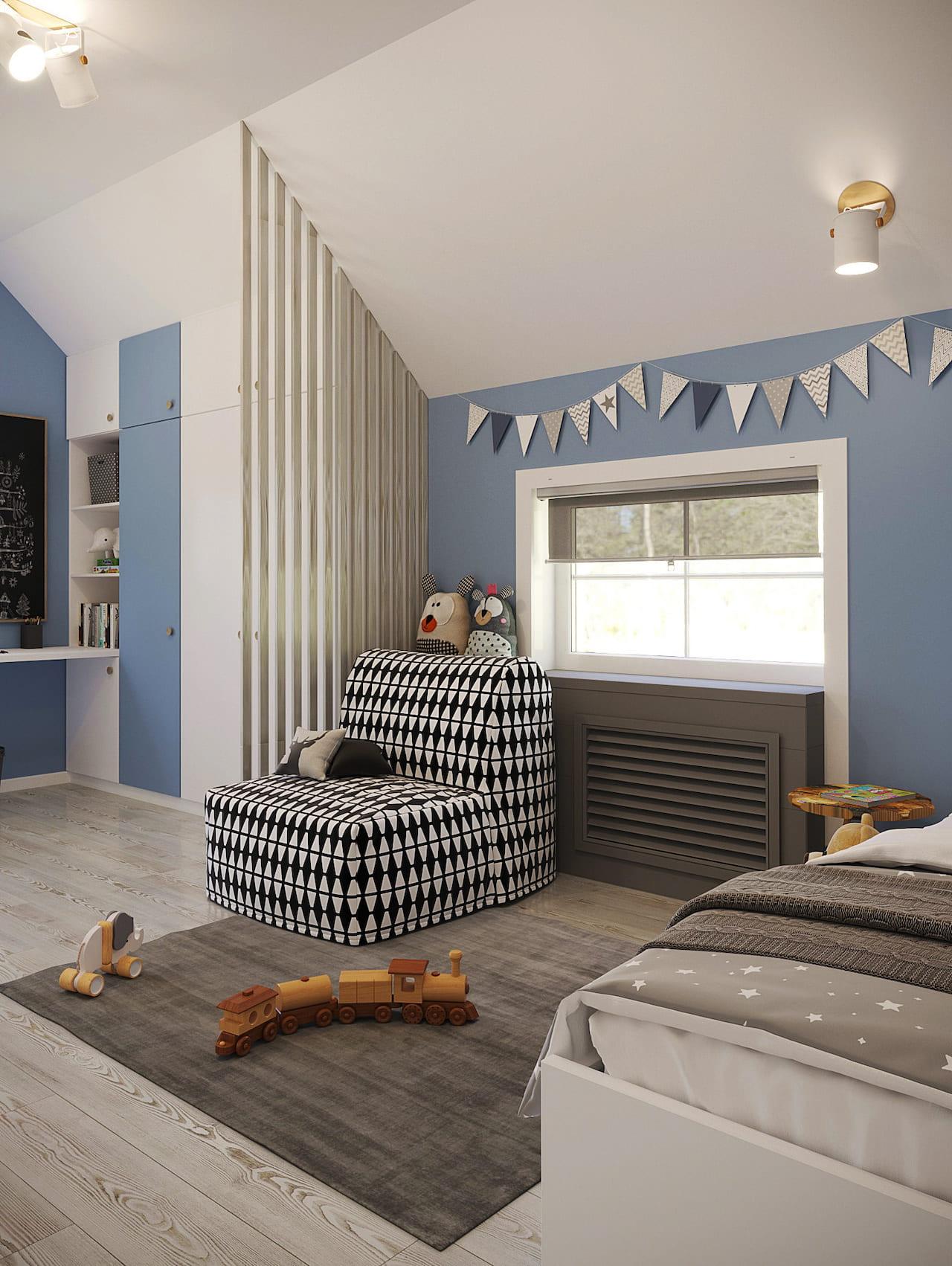 детская комната для мальчика фото 90