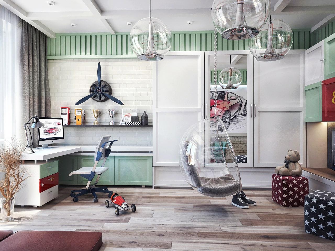 детская комната для мальчика фото 51