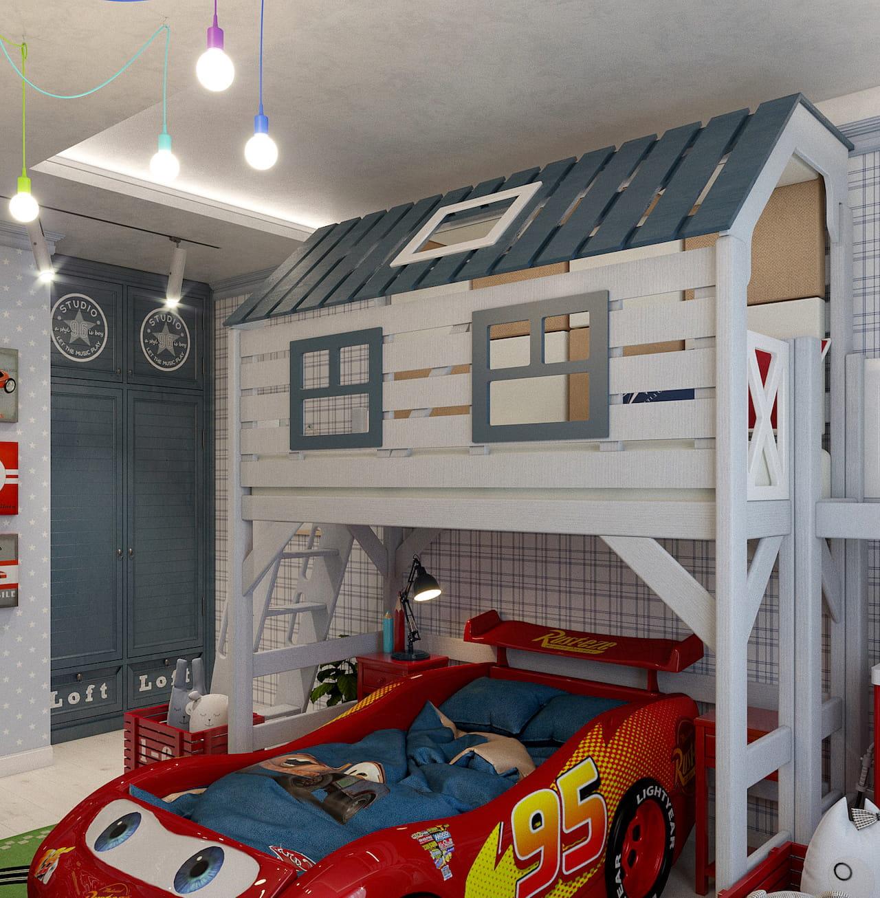 детская комната для мальчика фото 54