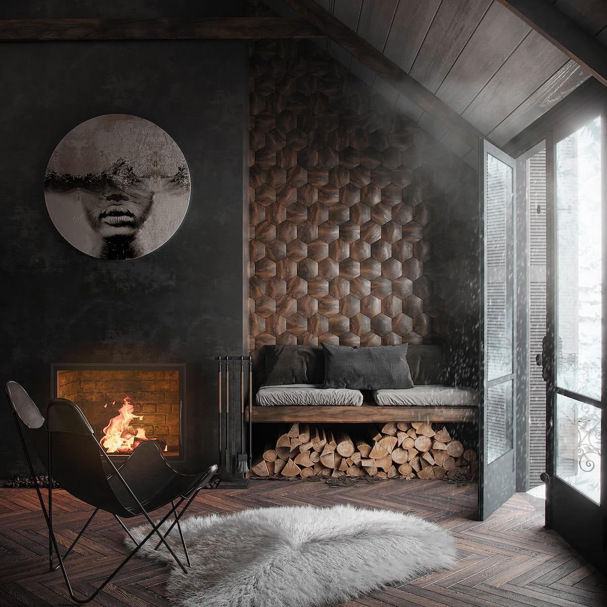 камин в интерьере гостиной фото 12