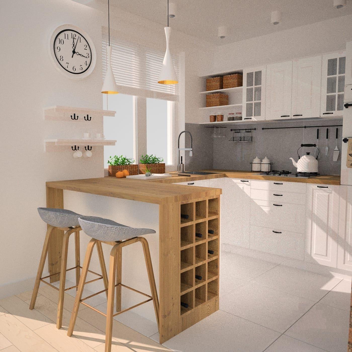 барная стойка на кухне фото 7