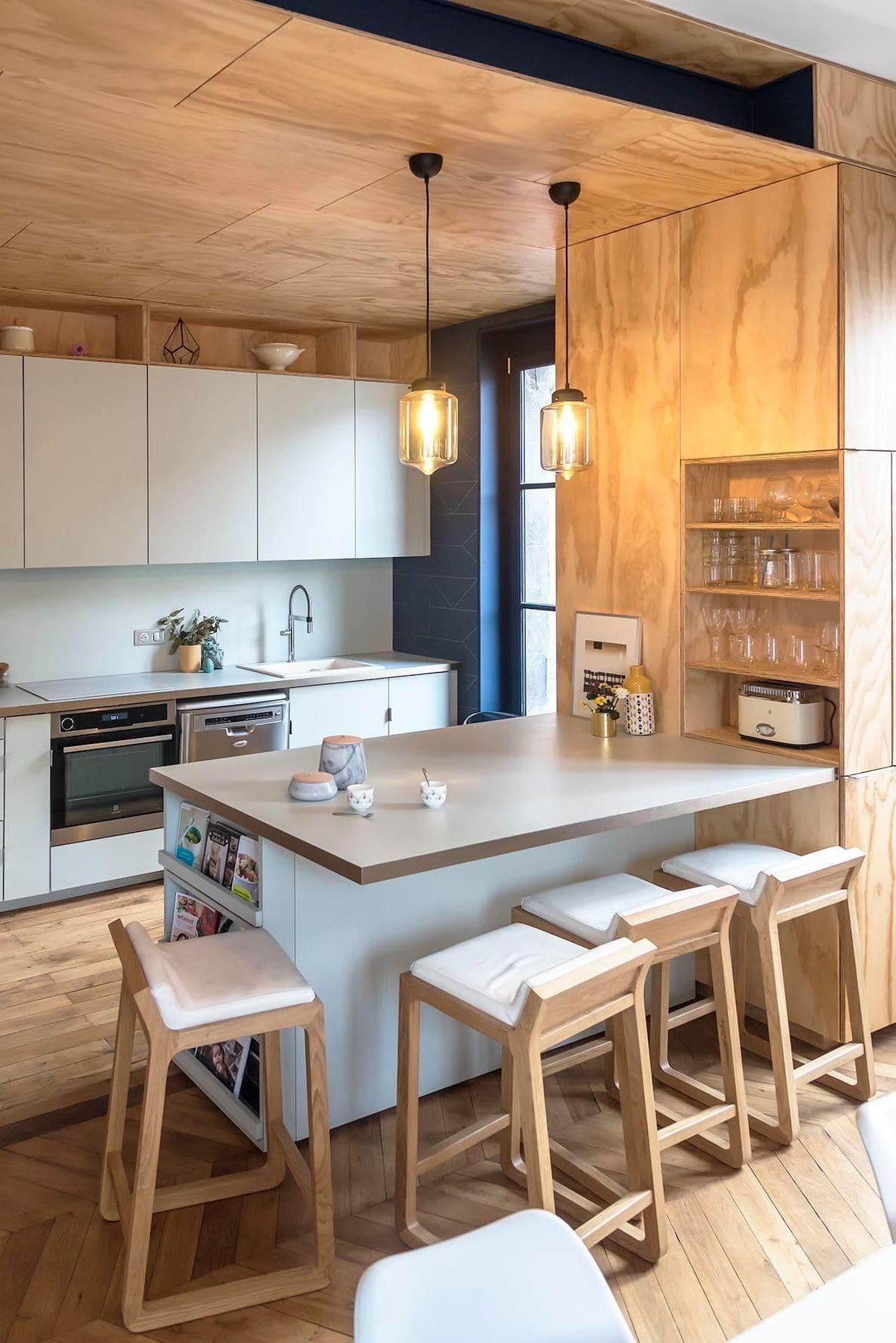 барная стойка на кухне фото 8