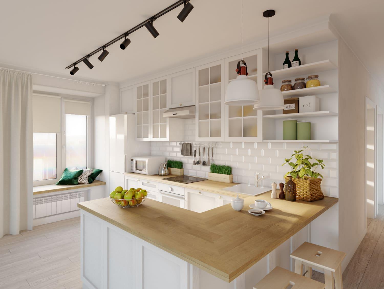 барная стойка на кухне фото 10