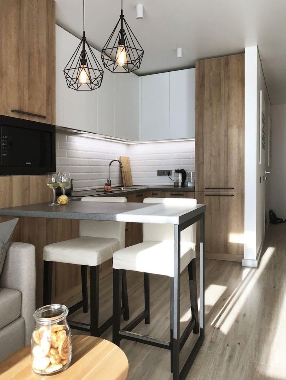 барная стойка на кухне фото 33