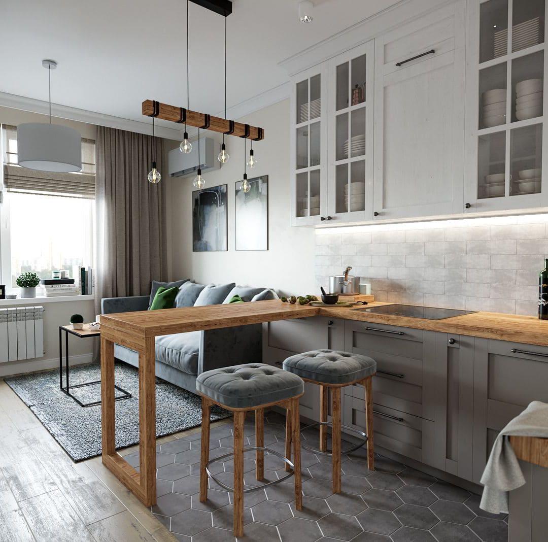 барная стойка на кухне фото 18