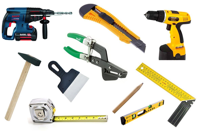 Инструменты для монтажных работ с гипсокартоном
