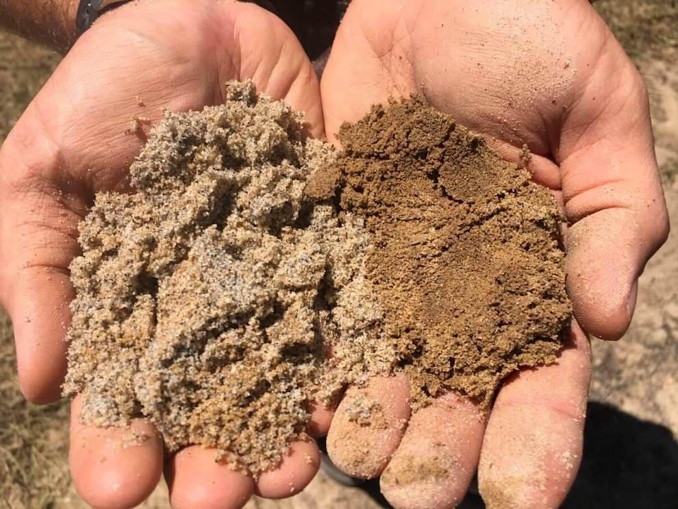 Для замеса бетона используется песок с размером фракции от 1 до 2,5 мм