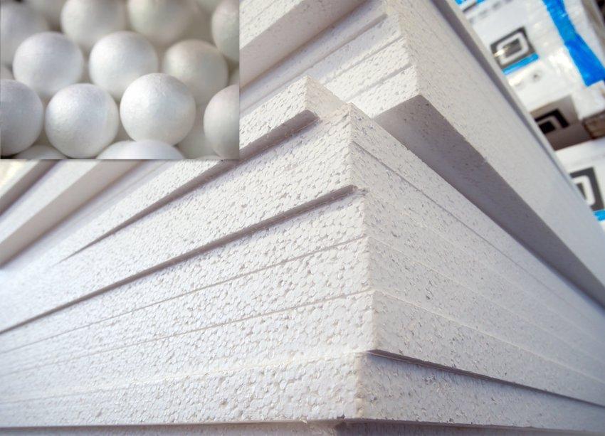 Пенопласт почти на 97% состоит из воздуха, что позволяет материалу эффективно удерживать тепло в доме