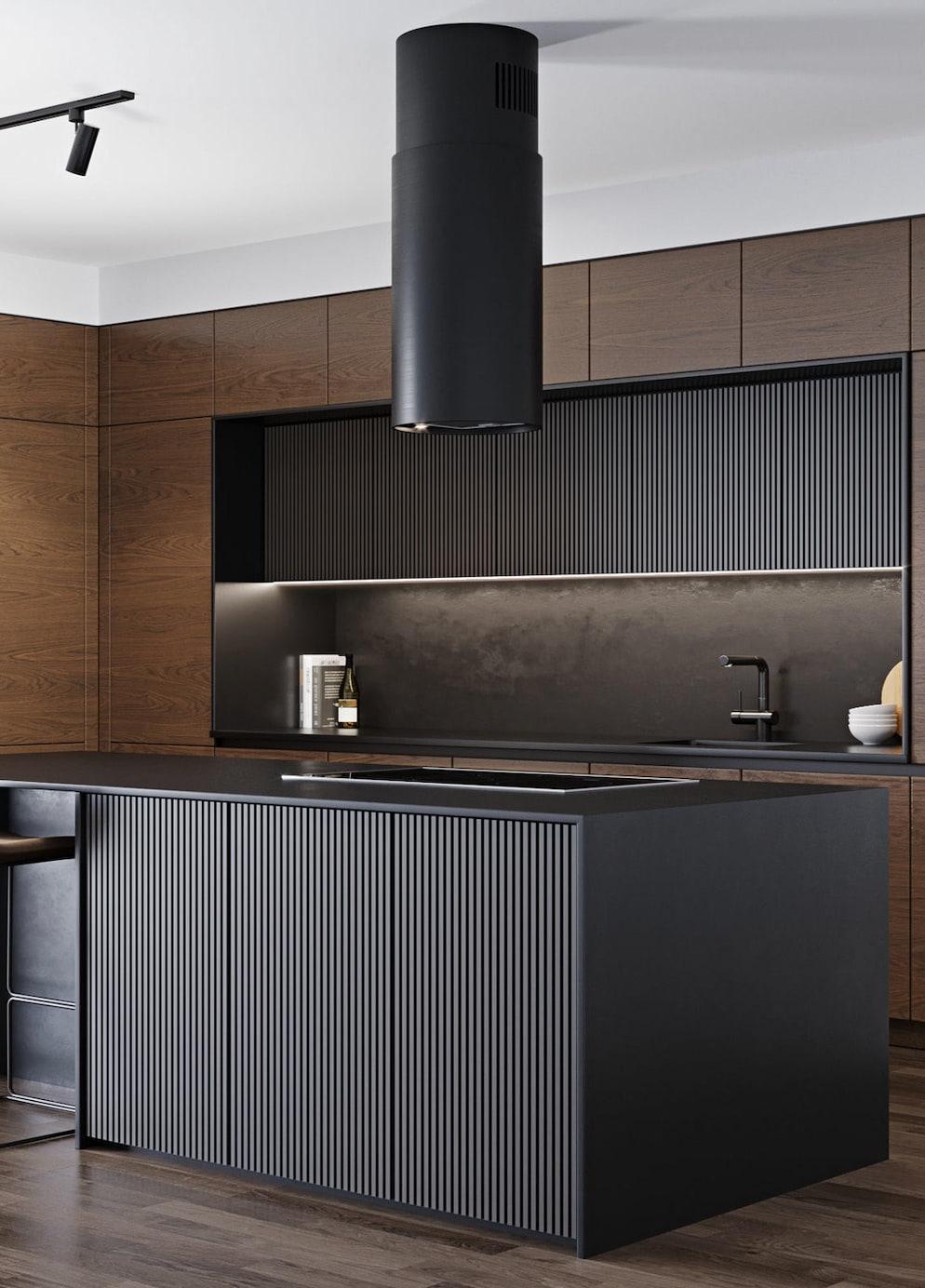Вытяжка должна дополнять и подчеркивать выбранную стилистику кухонного помещения