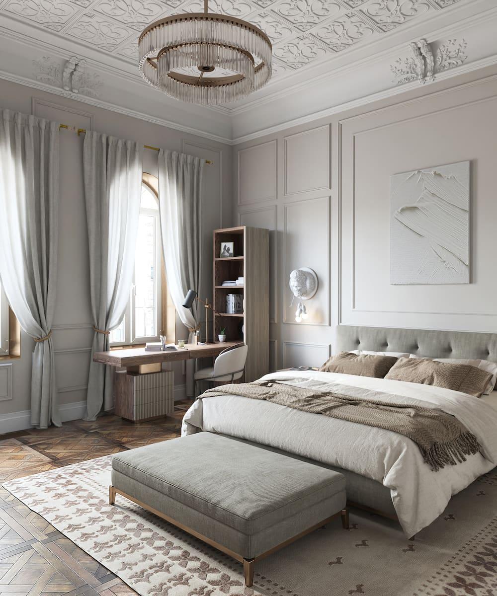 модный интерьер спальни фото 8