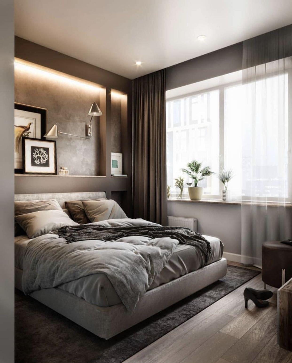 модный интерьер спальни фото 36