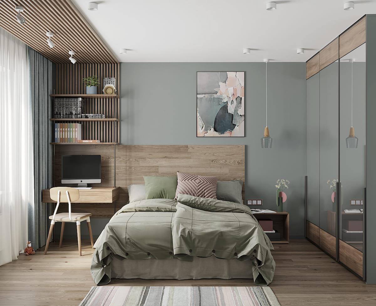 модный интерьер спальни фото 35
