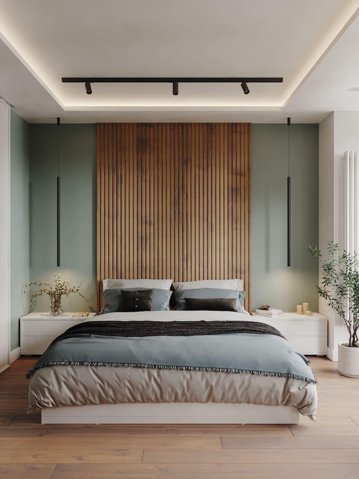 модный интерьер спальни фото 45