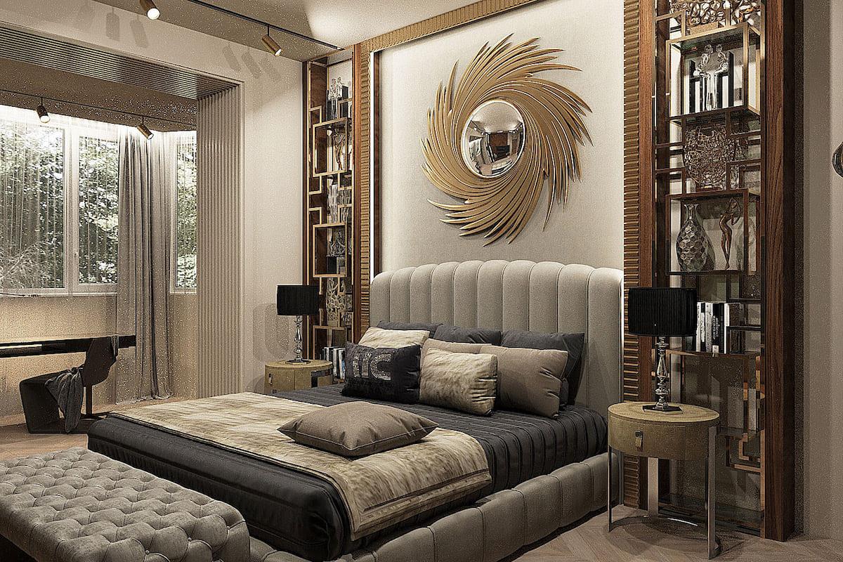 модный интерьер спальни фото 16