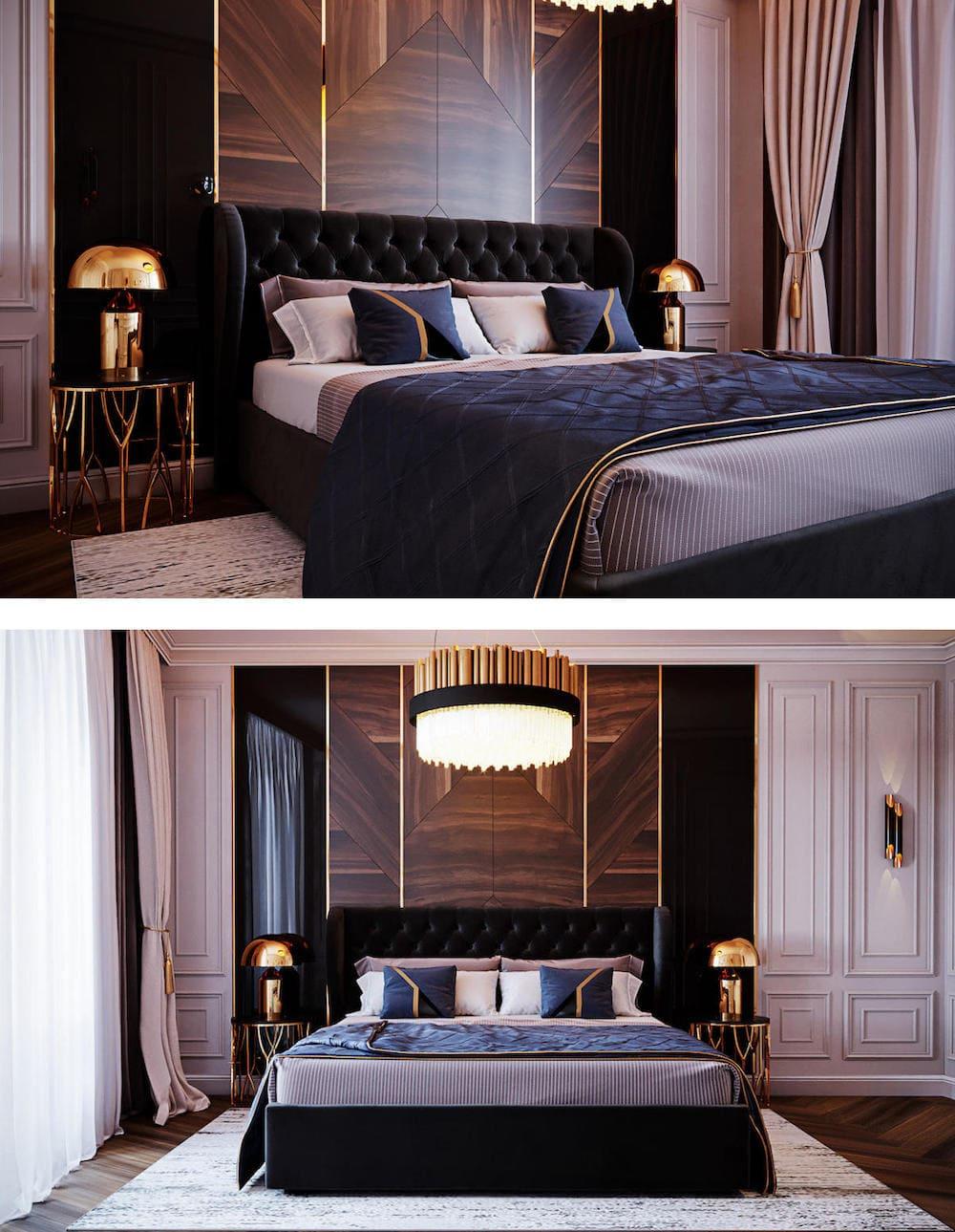 модный интерьер спальни фото 17