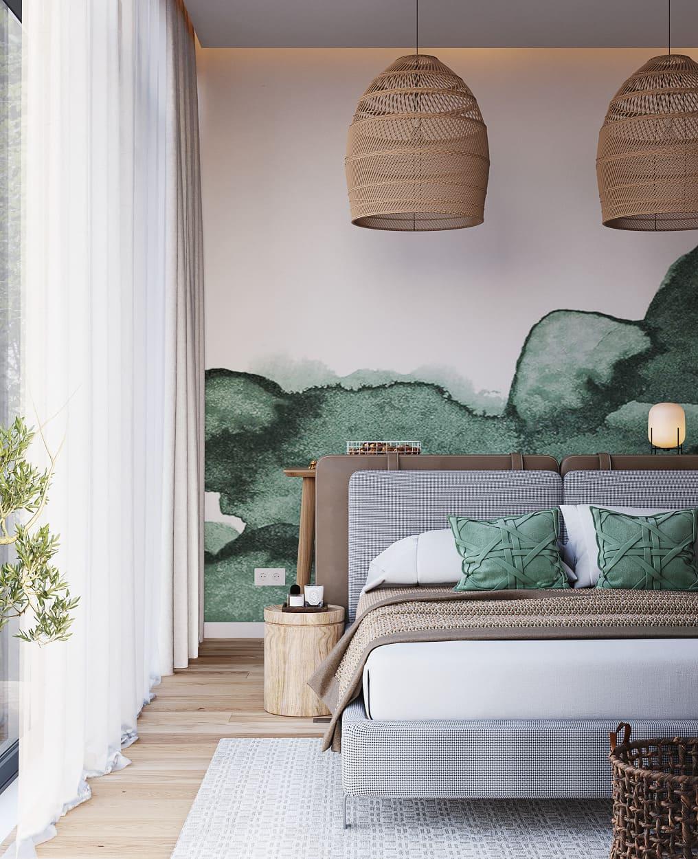 модный интерьер спальни фото 44