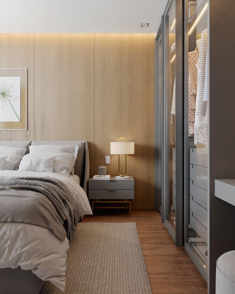 модный интерьер спальни фото 33