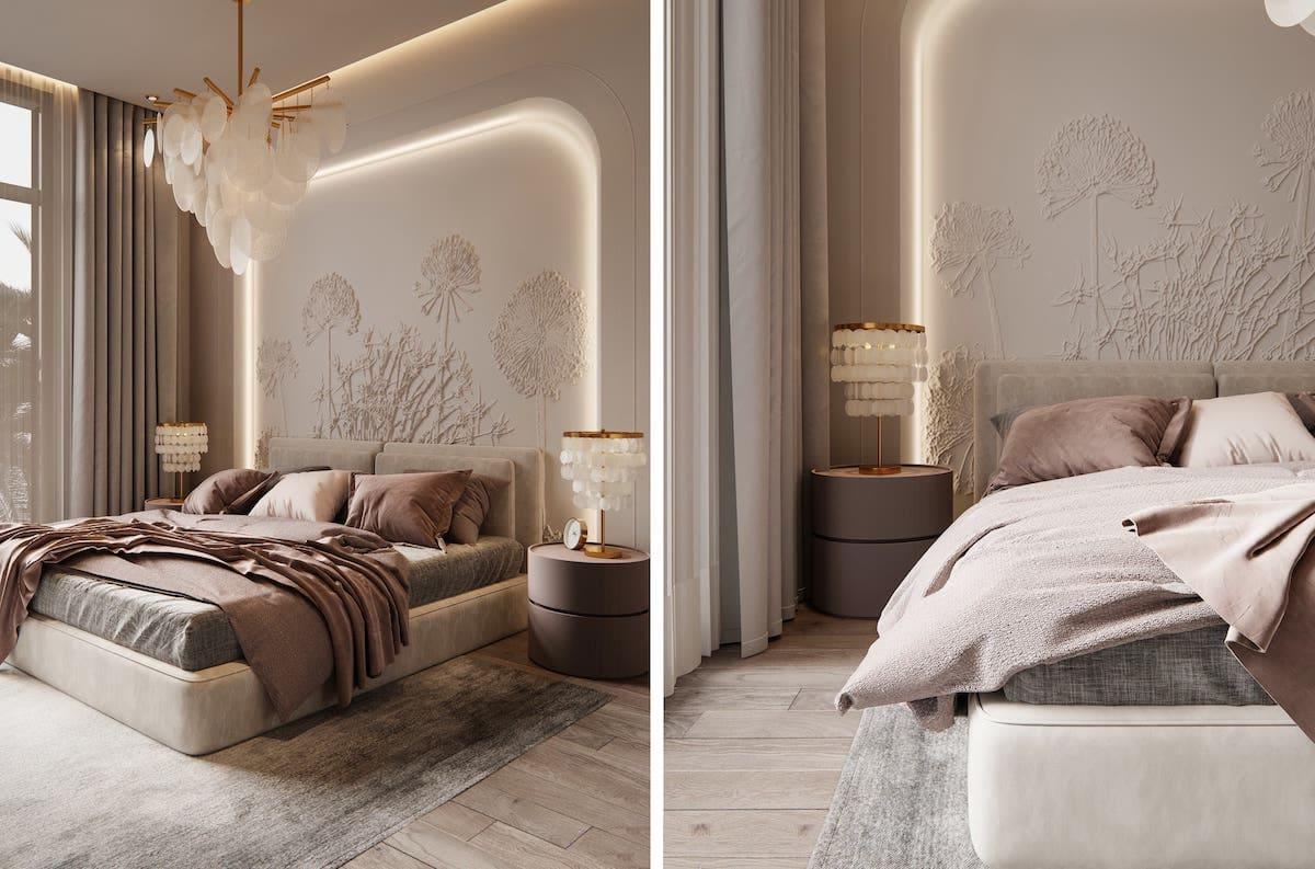 модный интерьер спальни фото 46