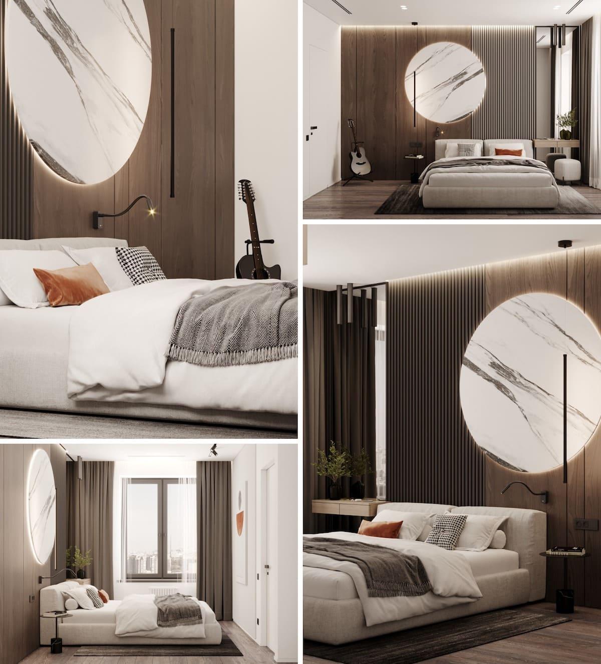 модный интерьер спальни фото 37