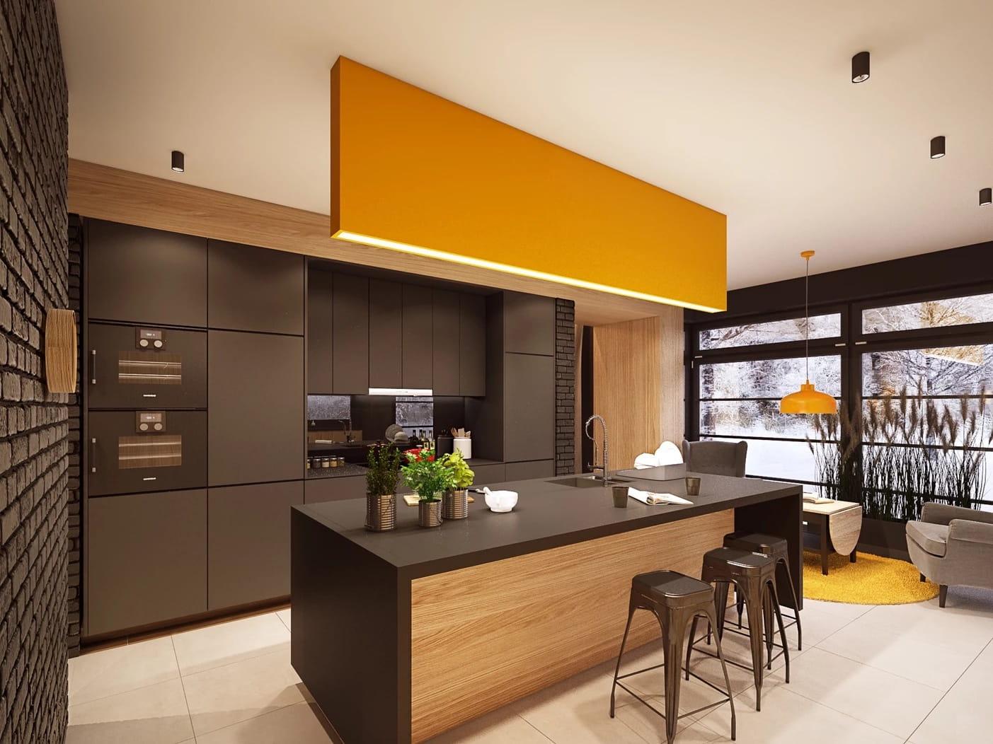 модный дизайн кухни 12