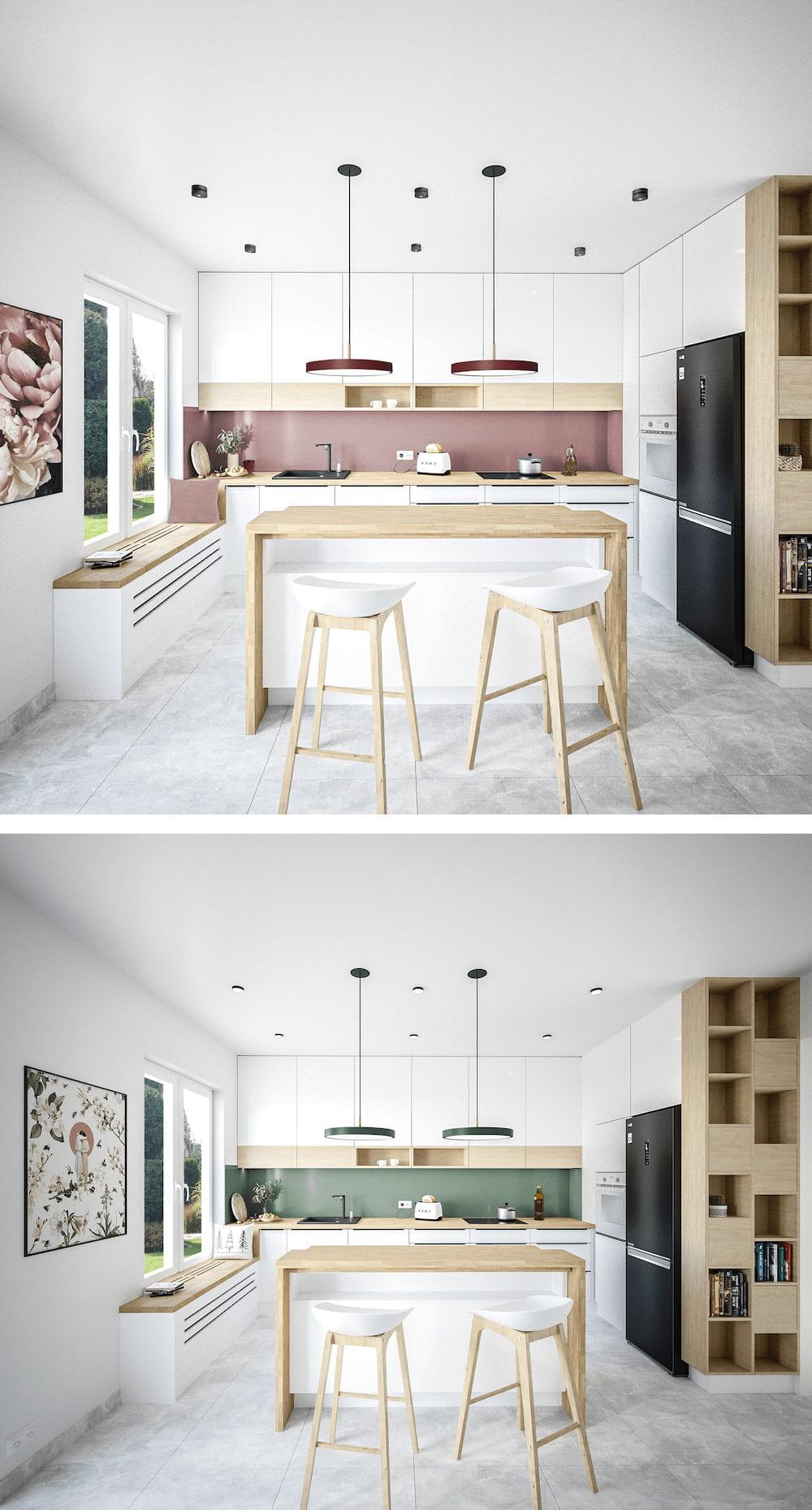 модный дизайн кухни 45