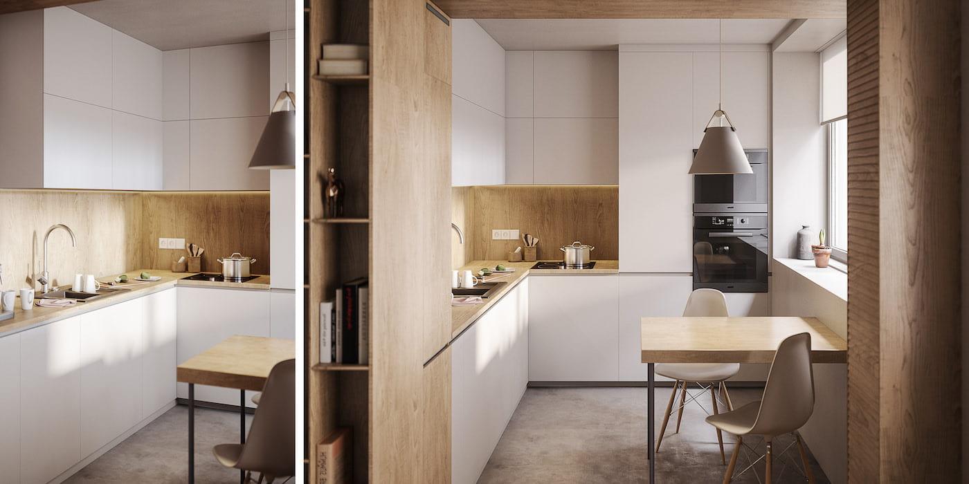 модный дизайн кухни 40