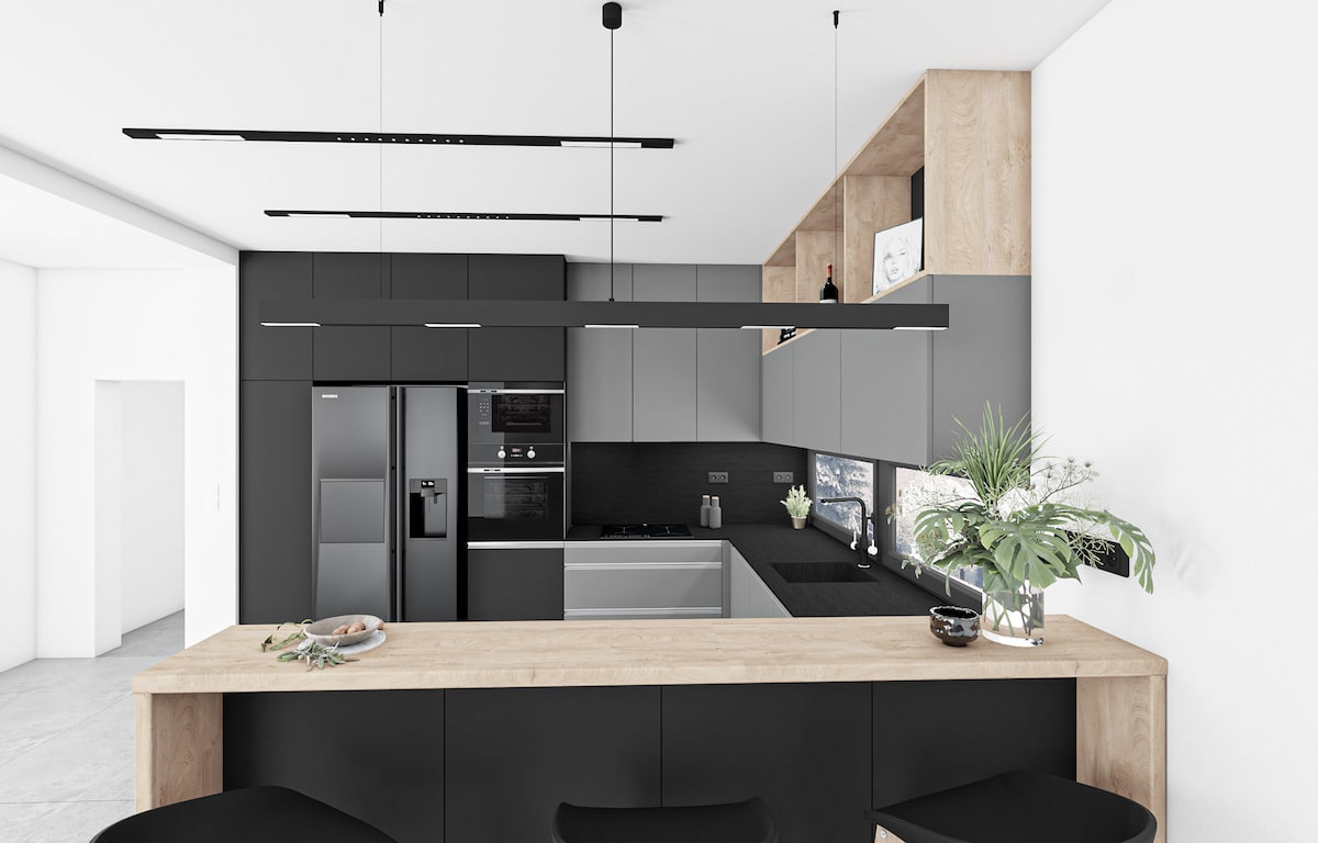 модный дизайн кухни 25