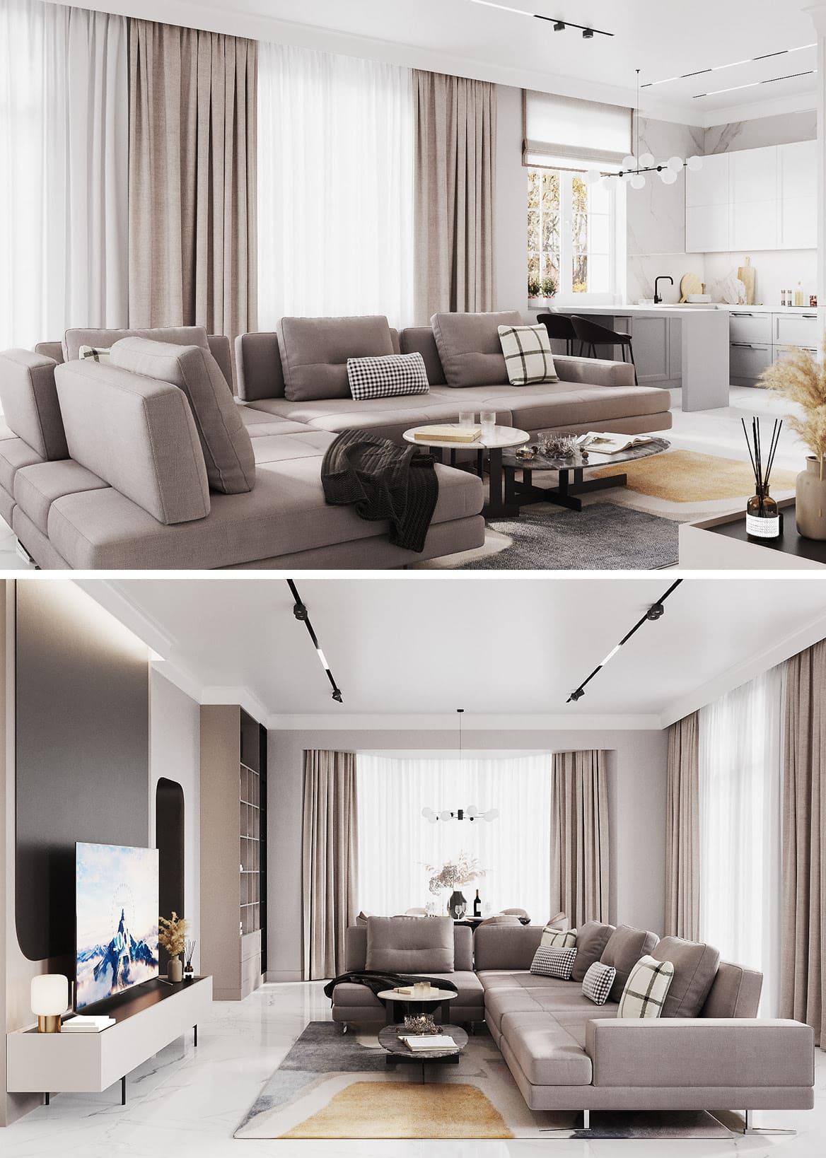гостиная идеи дизайна 6