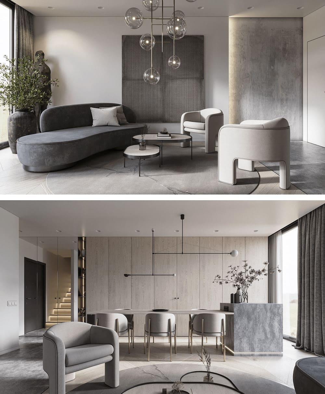 гостиная идеи дизайна 17