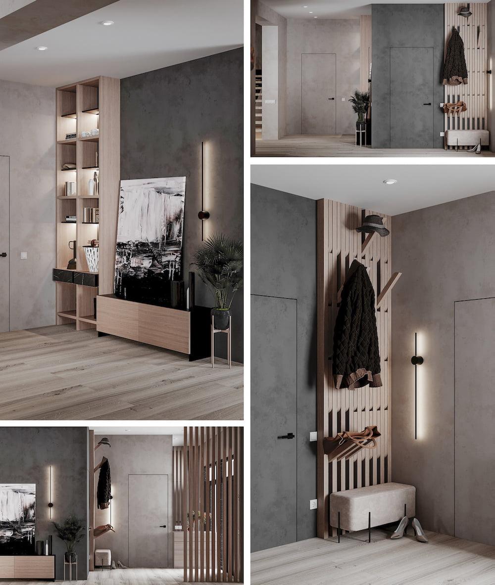 Декоративная штукатурка на стенах в прихожей – современный интерьерный тренд, который никогда не выйдет из моды